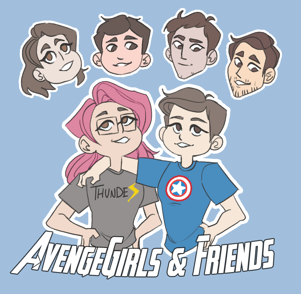 """AvengeGirls and Friends"" Podcast Cover"