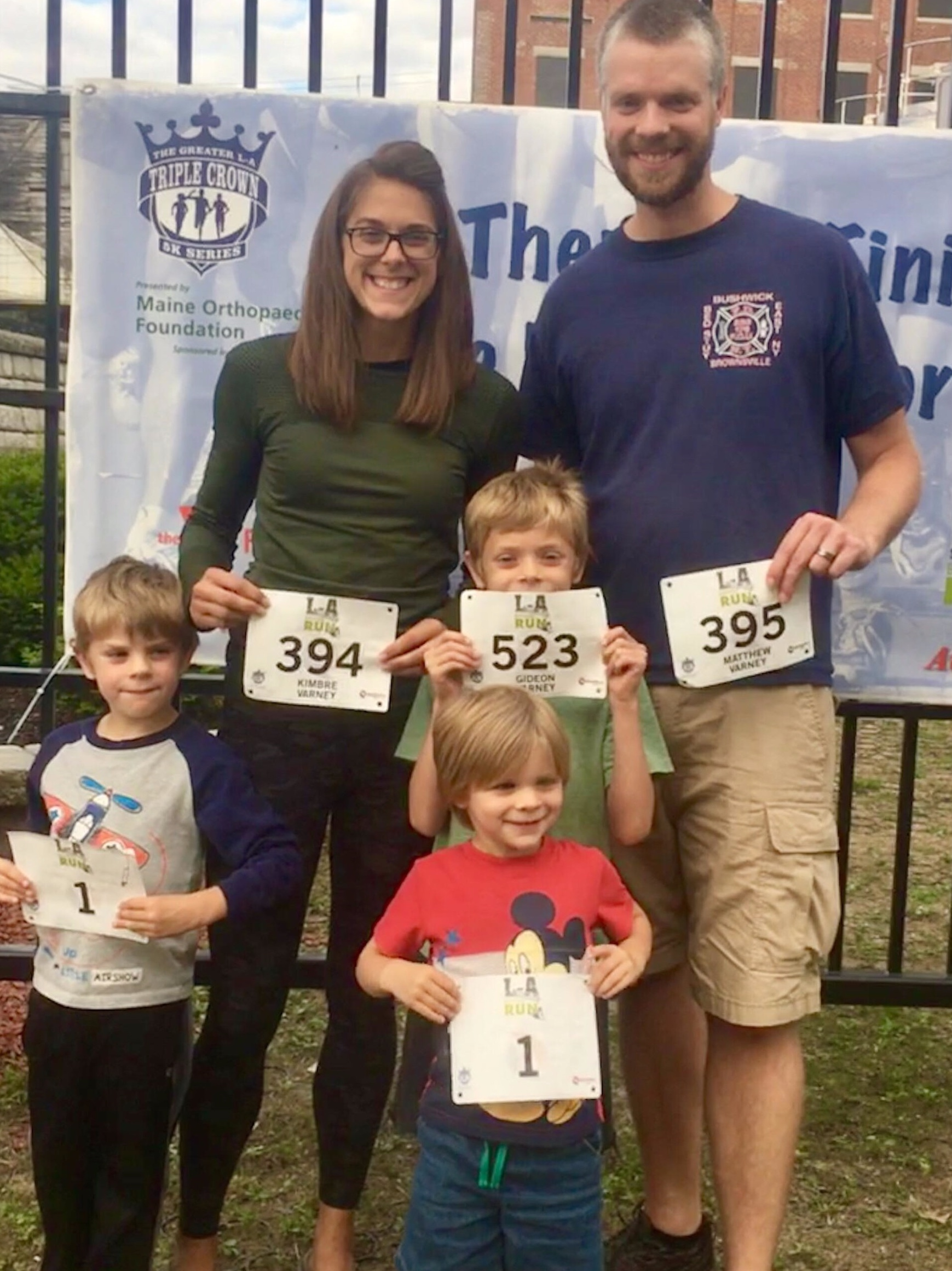 Kimbre and her husband Matt, and their 3 sons.
