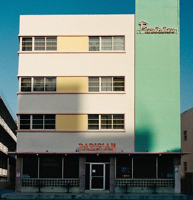 Missing Miami #Parisian #leicam6 #portra400 #analog #film #filmisnotdead #parisianhotel #miamibeach