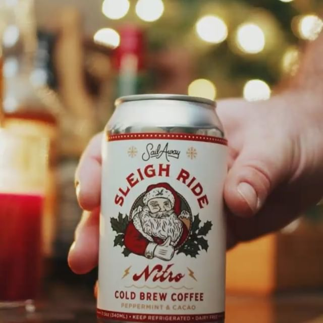 "Limited time only, ""Sleigh Ride"" holiday Nitro Brew! Get yours while you can #tistheseason #longisland #coffee #nitrobrew #nitrogenicecream #sailawaycoffee"