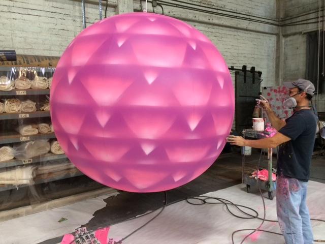 Broken Bells   Hand painted inflatable PVC balloon ball