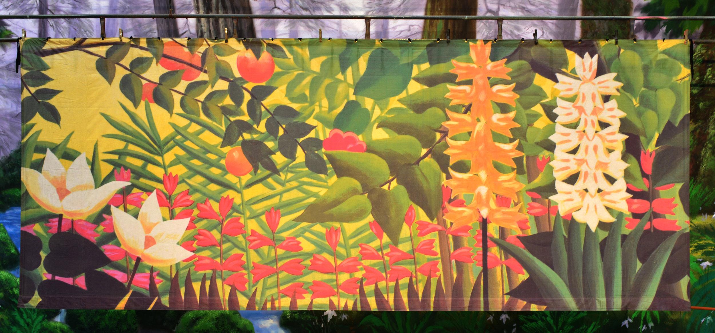 Garden print backdrop