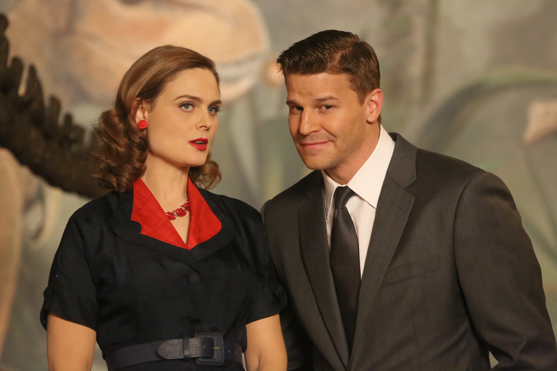 Bones - 200th Episode - Our hand painted drop was wall mounted on set and featured in a pivotal scene in the highly acclaimed television series.