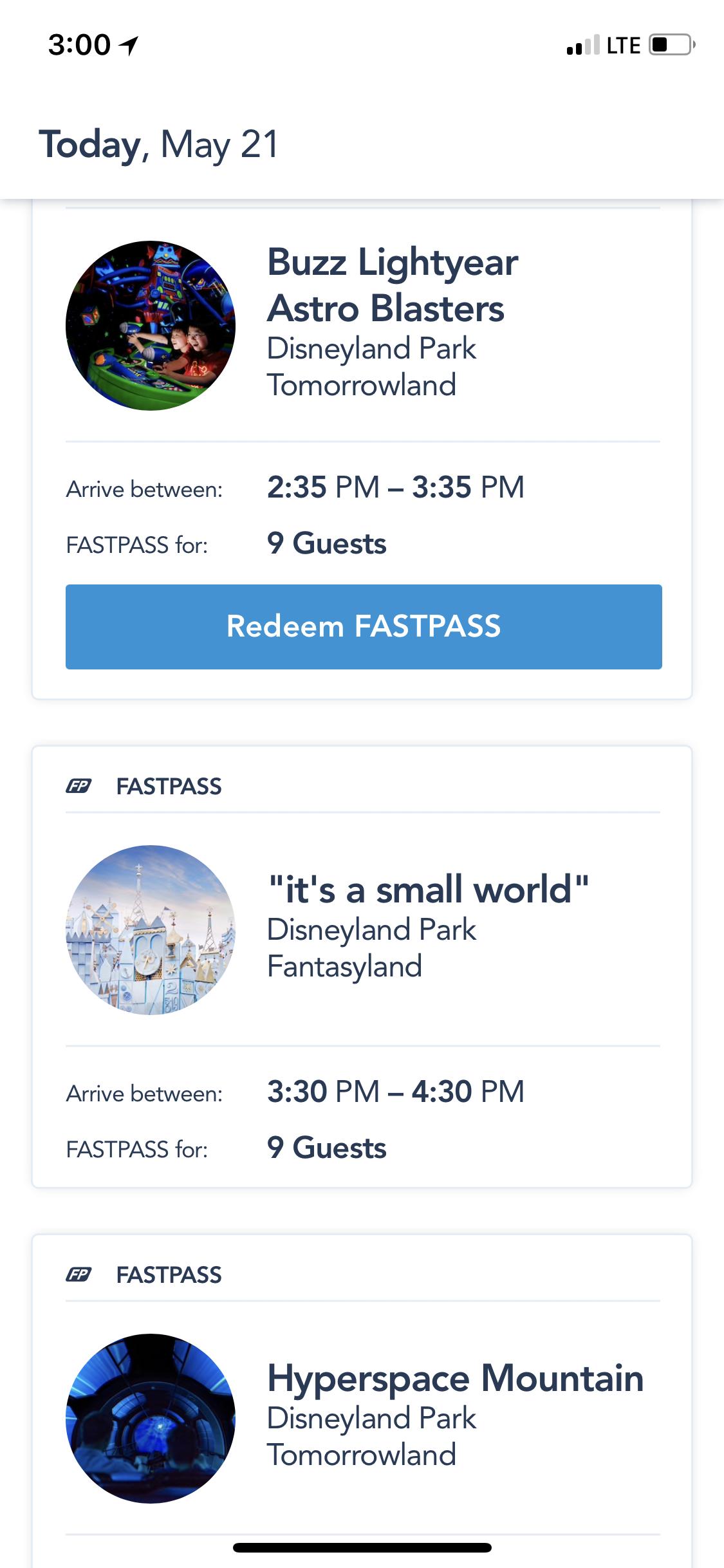Disneyland Fast Pass