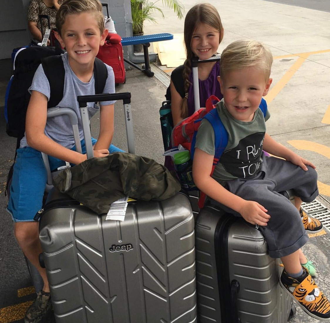 We put everyone in charge of one backpack and one suitcase to give them some responsibility on the trip