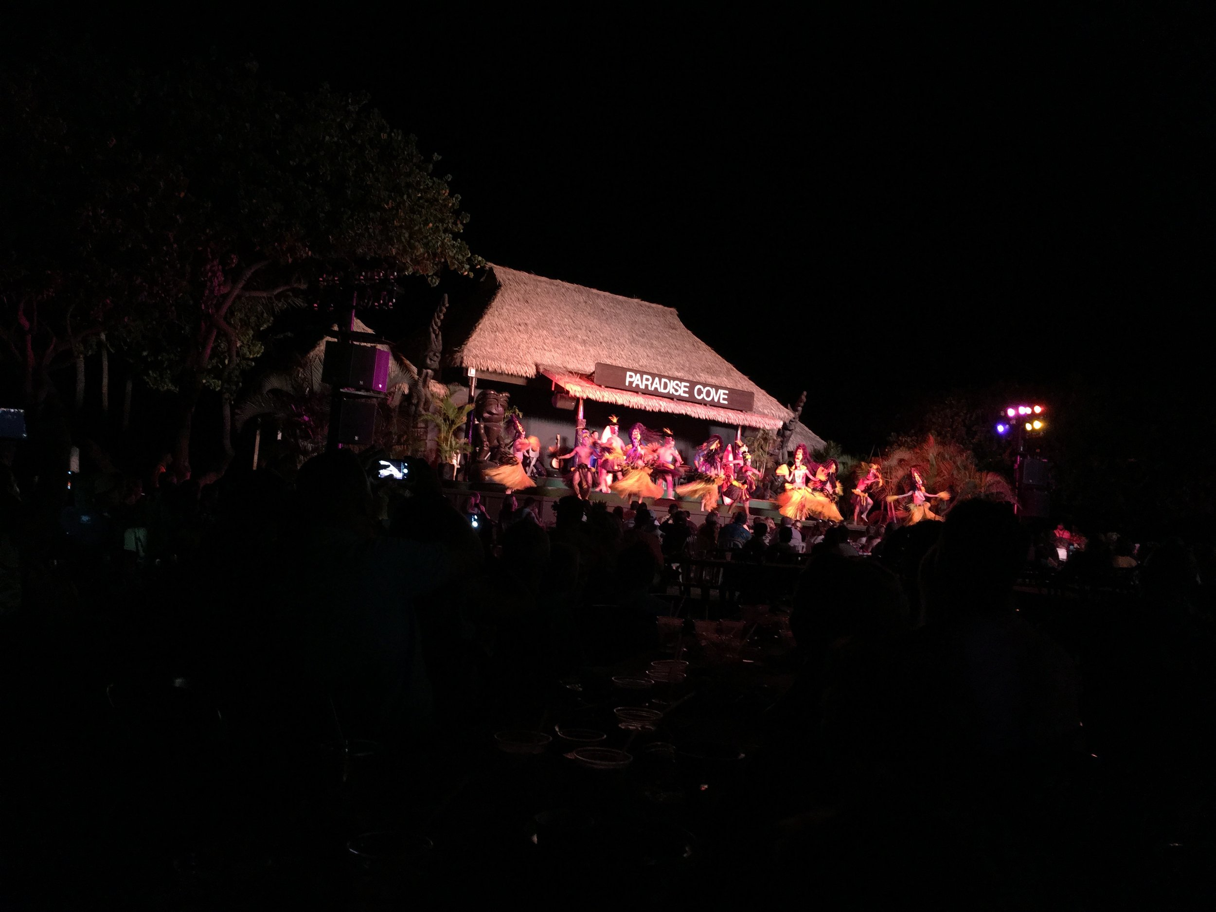 We went to the Luau next door at Paradise Cove