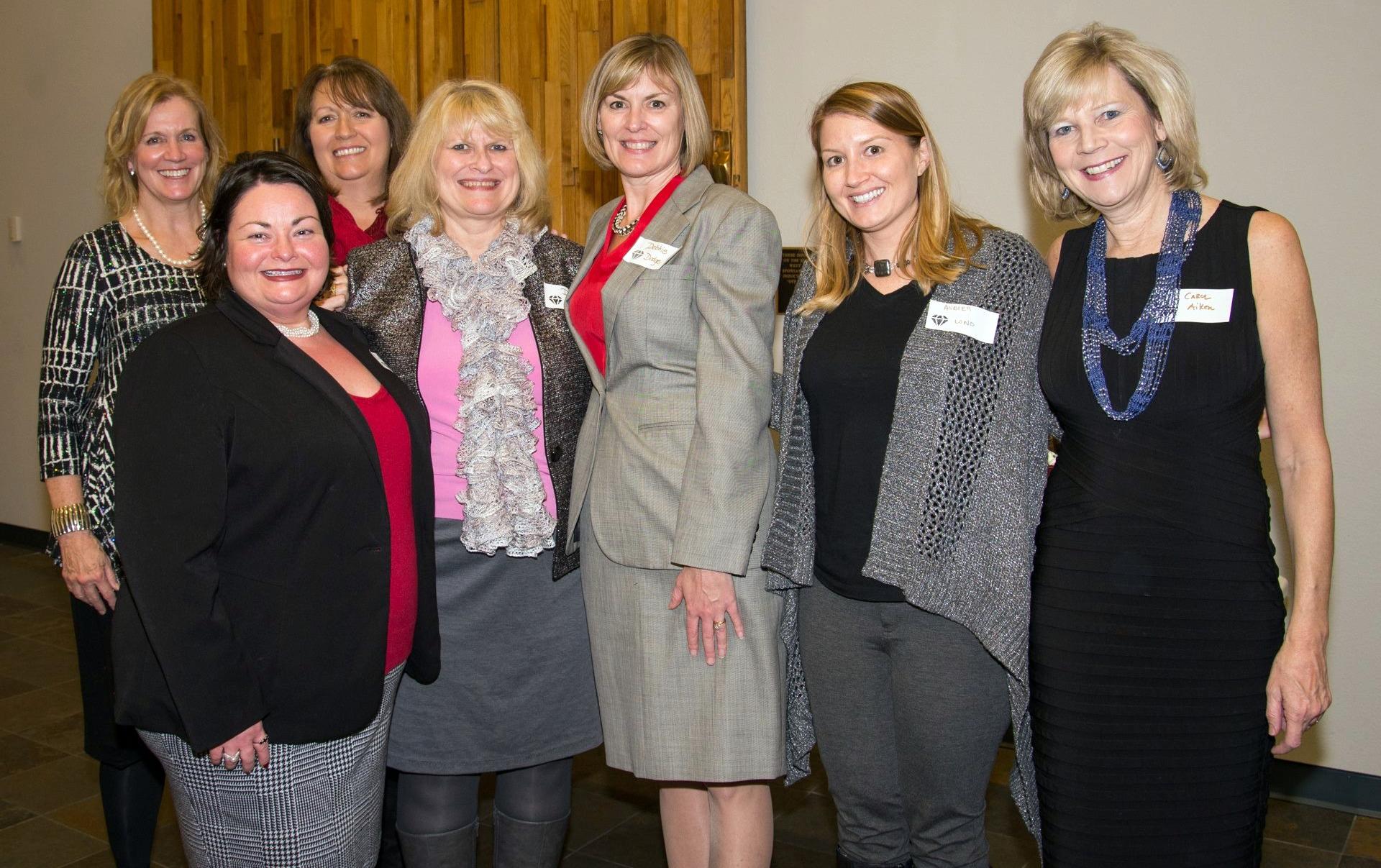 SMWL Founding Board (2015) - Honorable Nancy Rahmeyer, Lara Fors-Secretary/Treasurer, Patty Shilling-President, Deanna Scott-Vice President, Debbie Dodge, Andrea Long, Honorable Carol Aiken