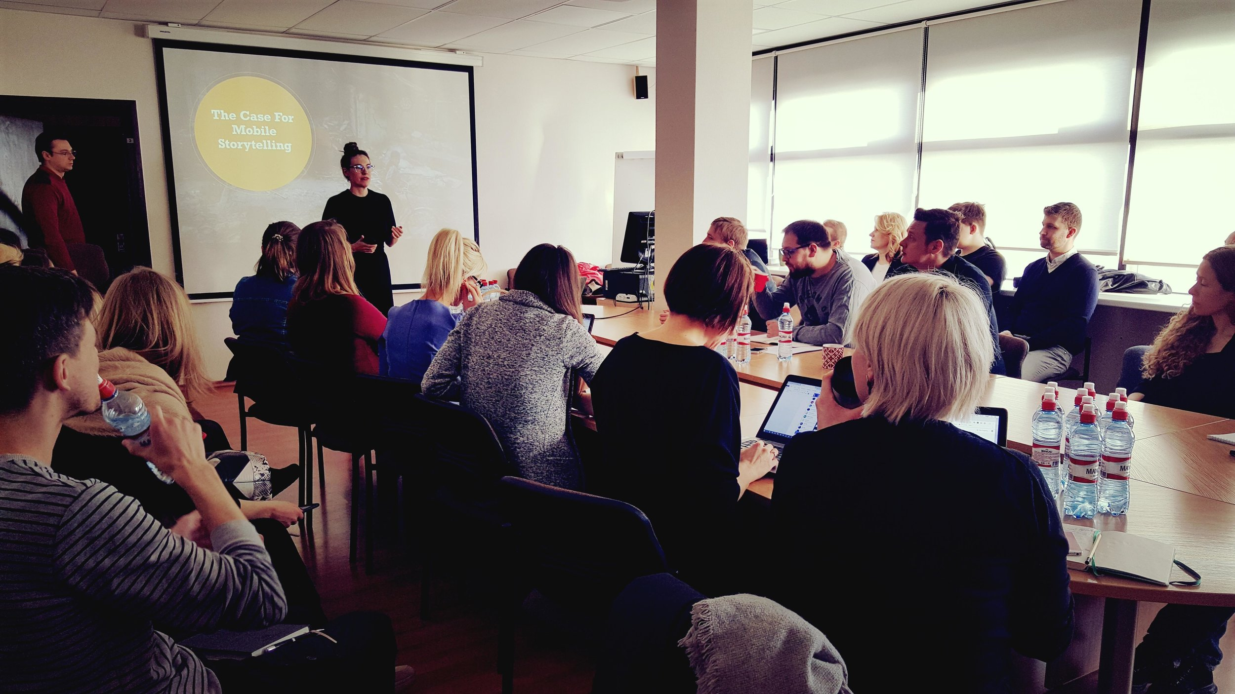 Training the newsroom at LTV in Riga