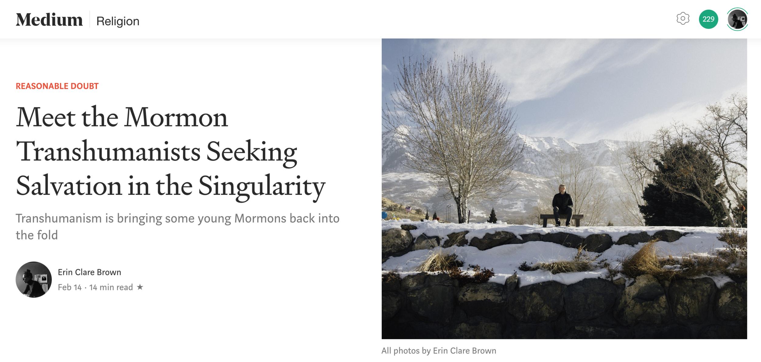 Medium - Mormon Transhumansim