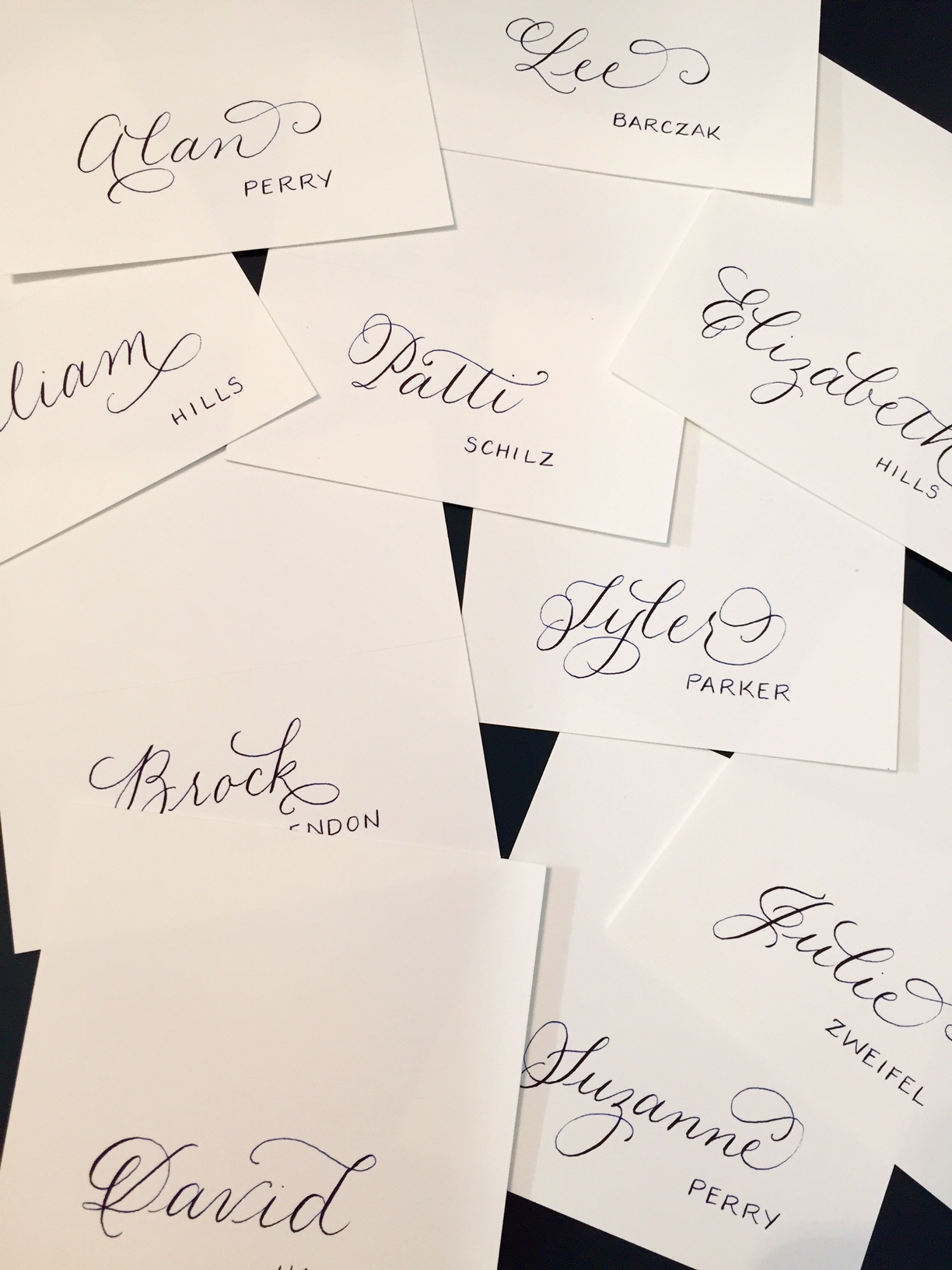 Casual place cards for a Charleston beach wedding