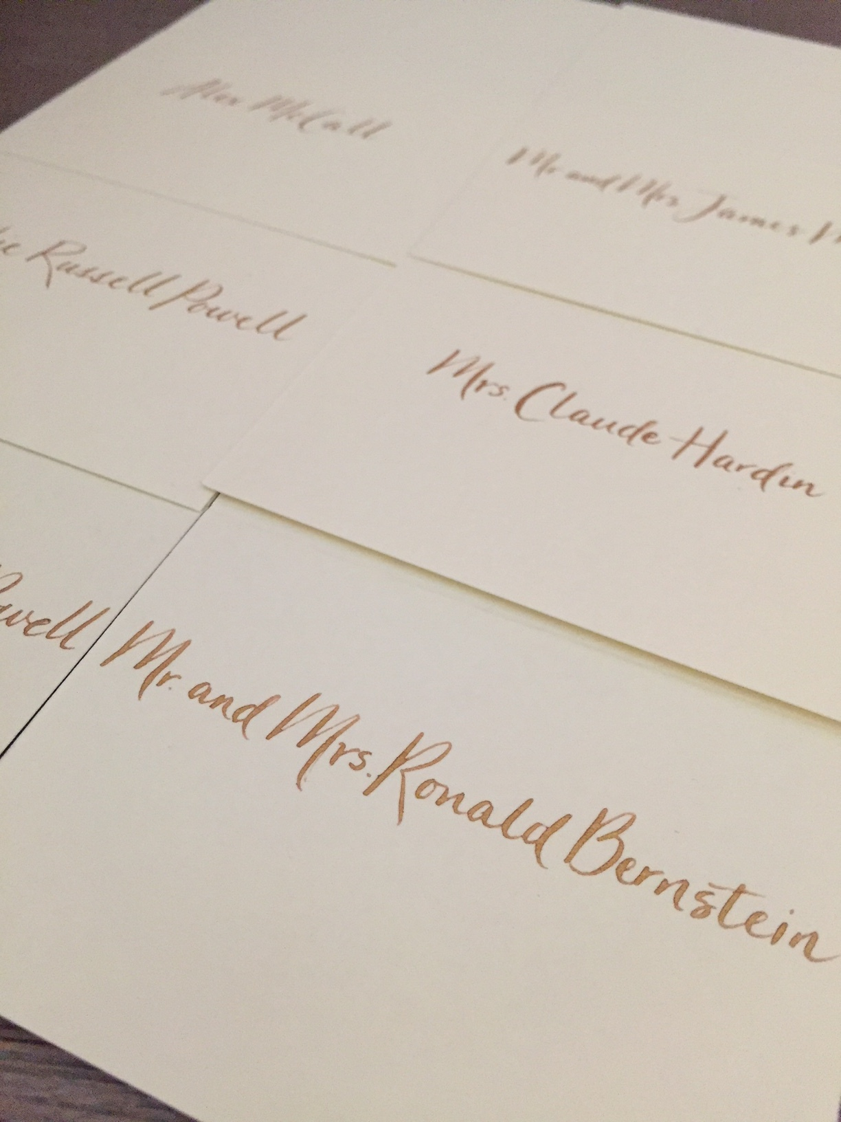 A modern style lettering to match the invitations for a corporate event
