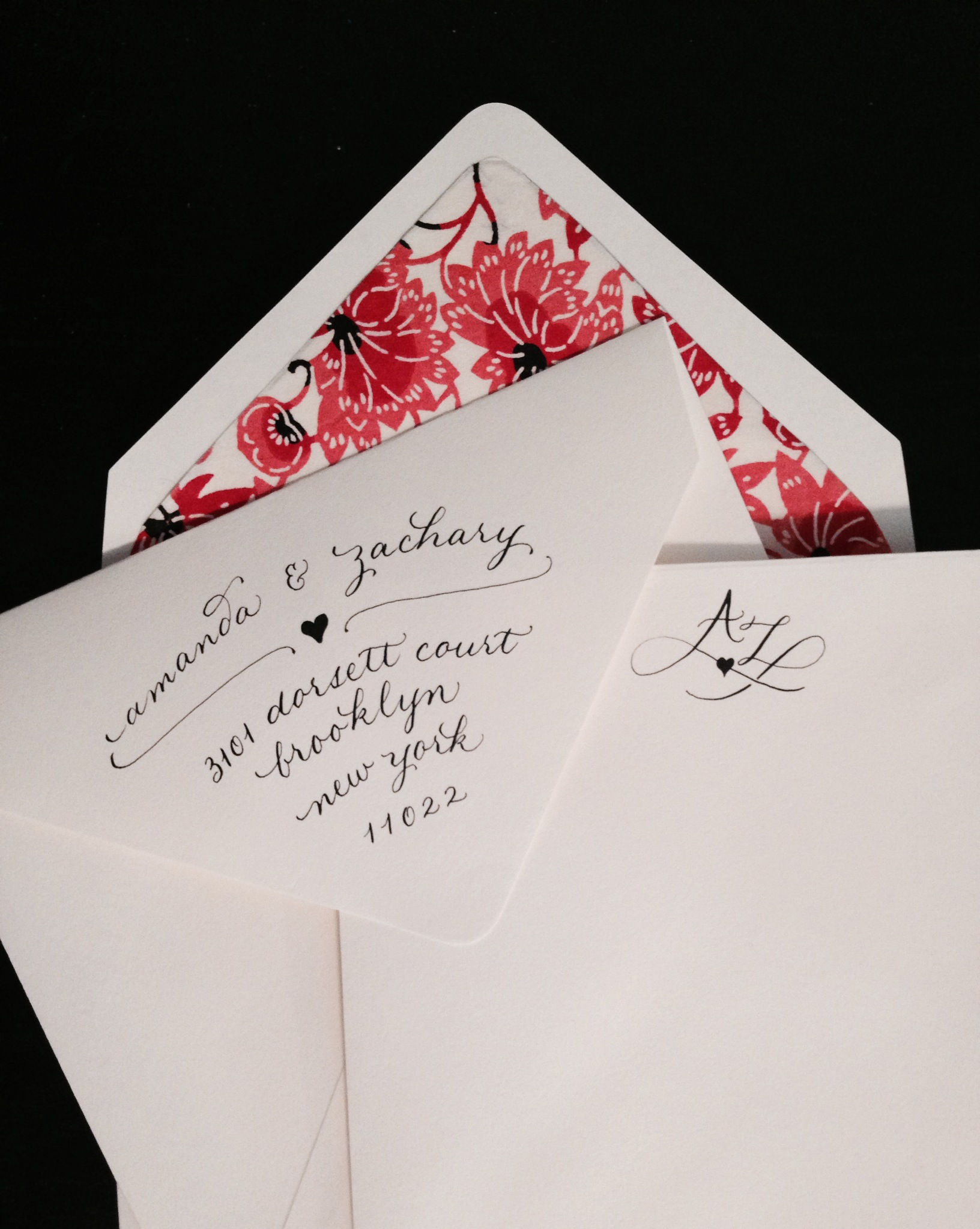 A custom duo-gram for a happy couple