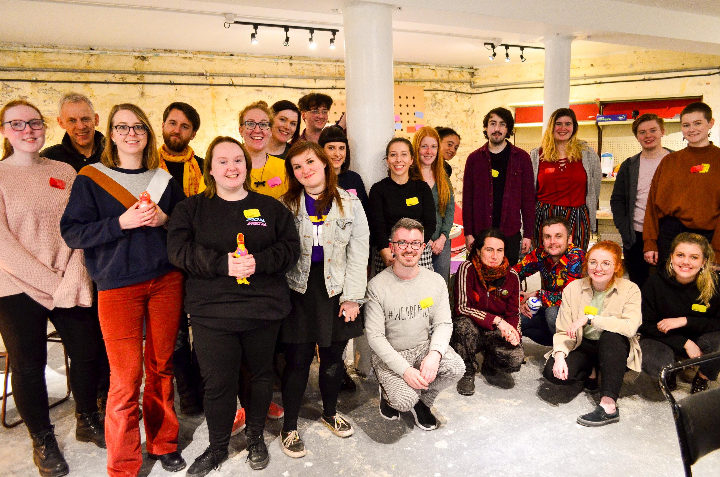 Global Service Jam Dundee. Dock Street Studios 2019.