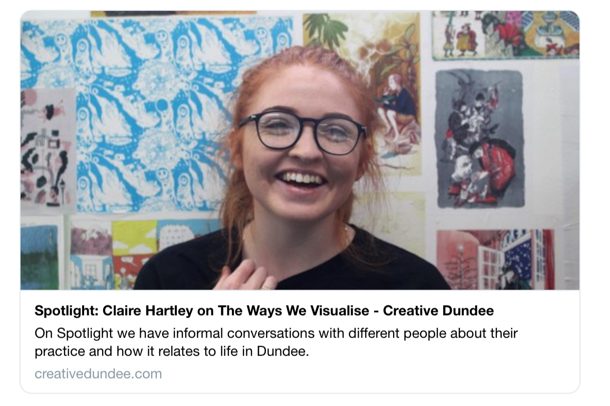 Read my Creative Dundee interview HERE:  https://bit.ly/2GmyqbF