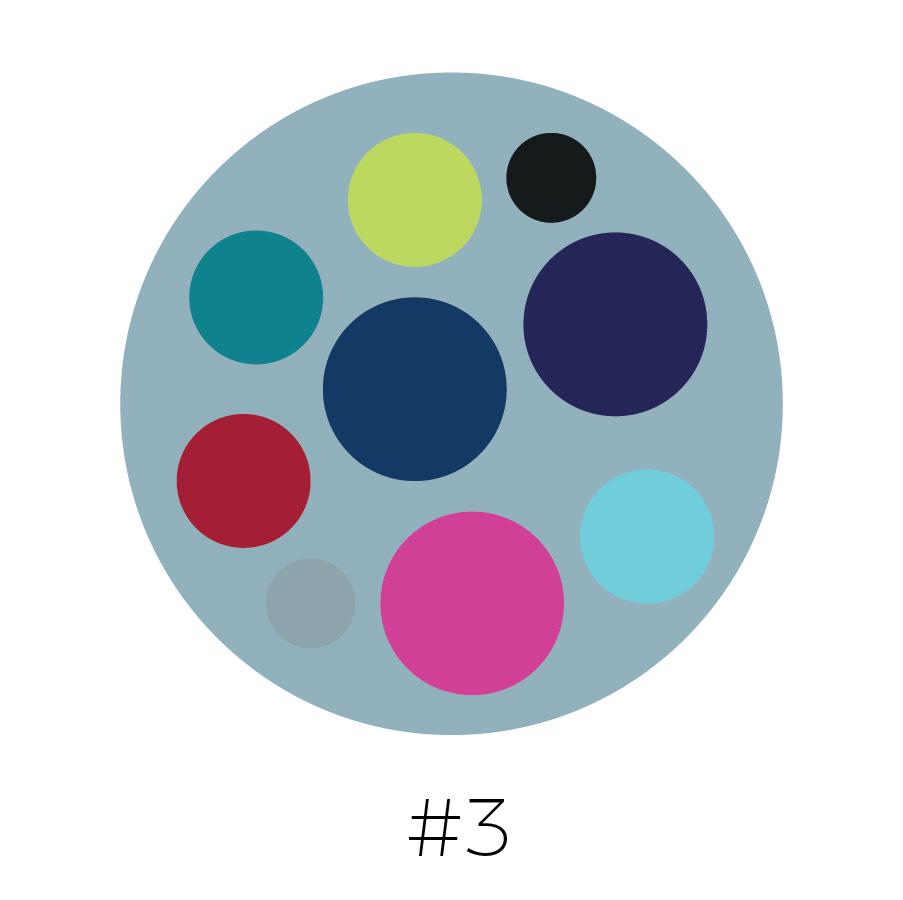 Steel Blue Background | Lime, Black, Teal, Prussian Blue, Eggplant, Red, Gray, Hot Pink, & Sky Blue