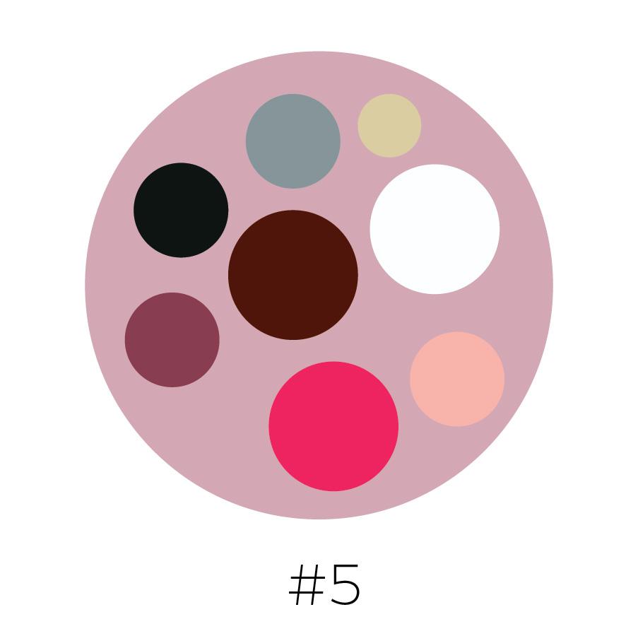 Rose Background | Gray, Beige, Black,  Brick Red, Mauve, Lipstick Pink, Blush Pink & White