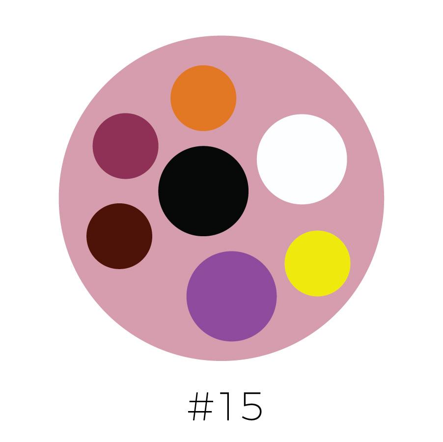 Rose Background | Tangerine, Mauve, Black,  Dark Merlot, Purple, Canary Yellow  & White