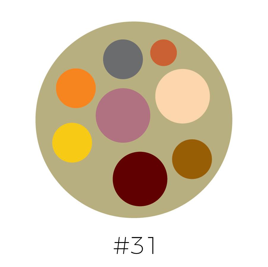 Clay Background | Medium Gray, Burnt Orange, Tangerine, Light Mauve, Peach, Merlot, & Brown