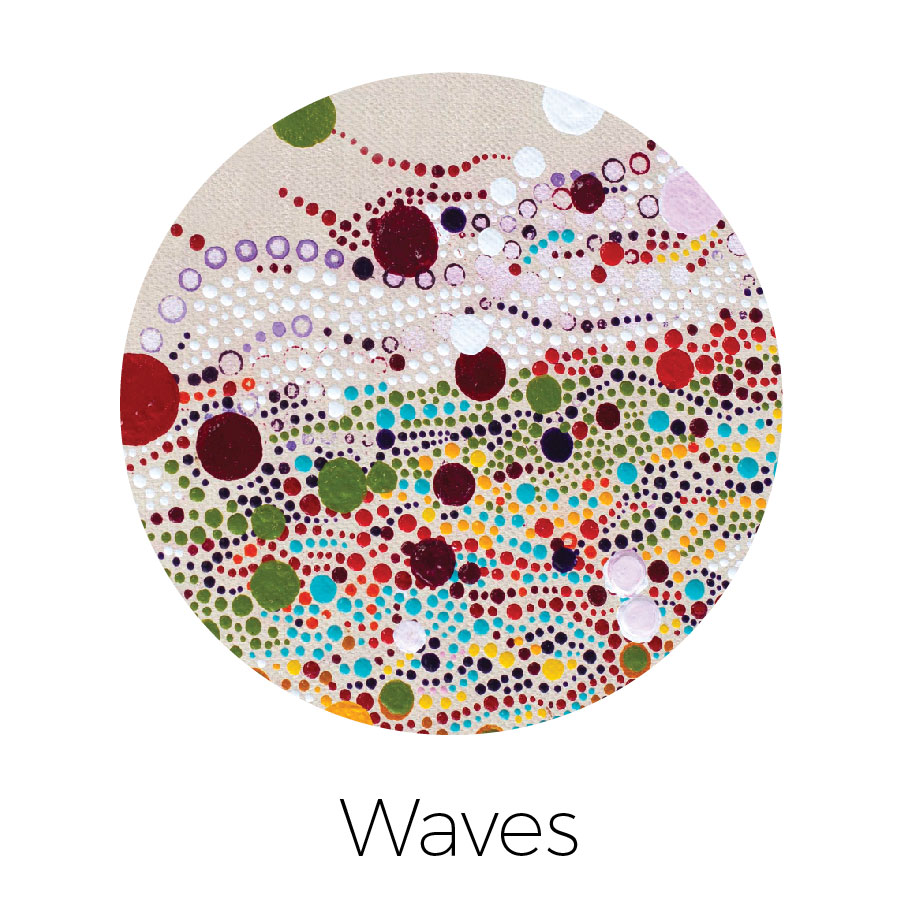 """""""Dotz"""" in a wave pattern to depict movement"""