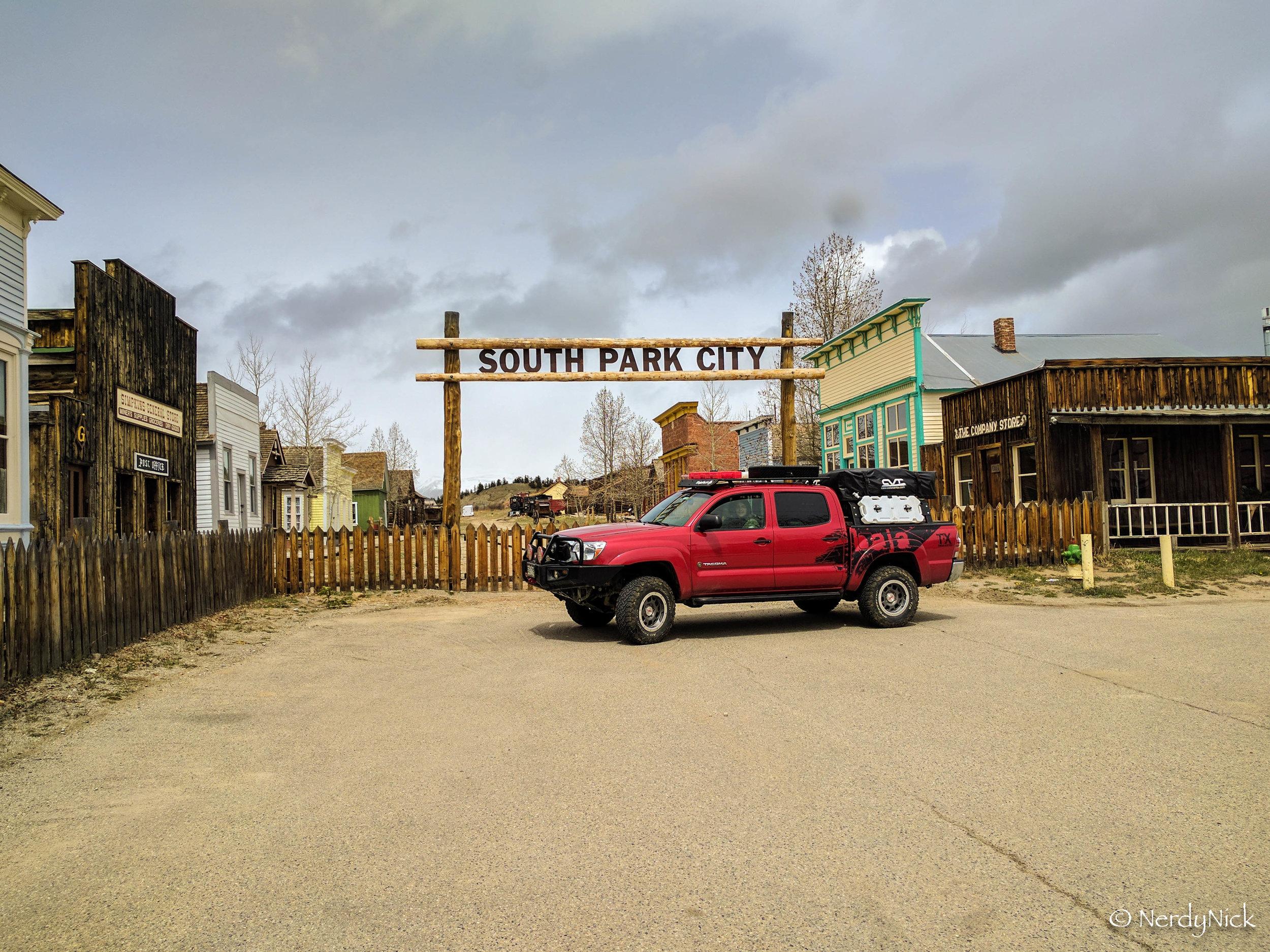 Swinging by South Park Colorado