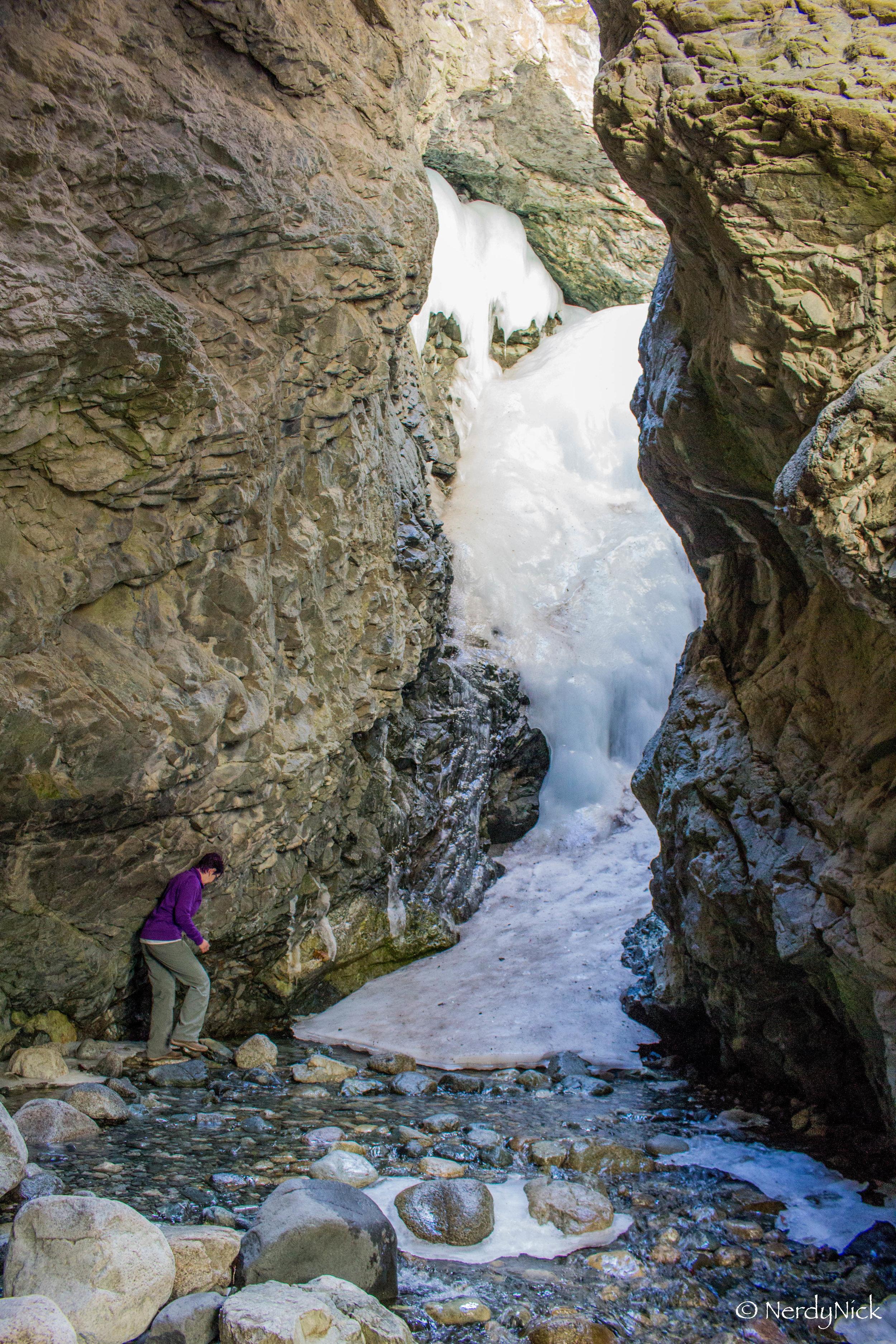 Zapata Falls all frozen over
