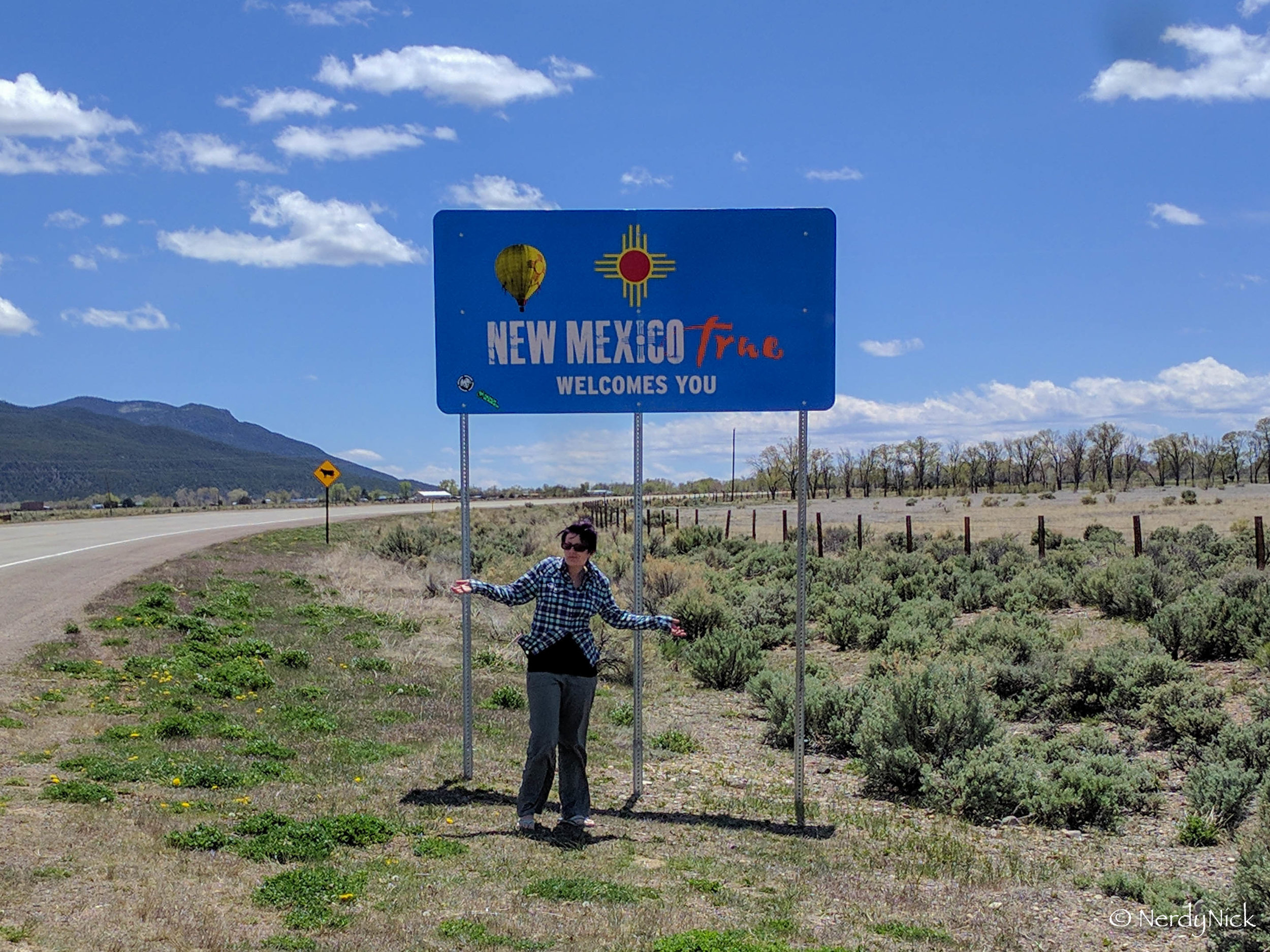 Welcome to New Mexico. They need to update their sign game.