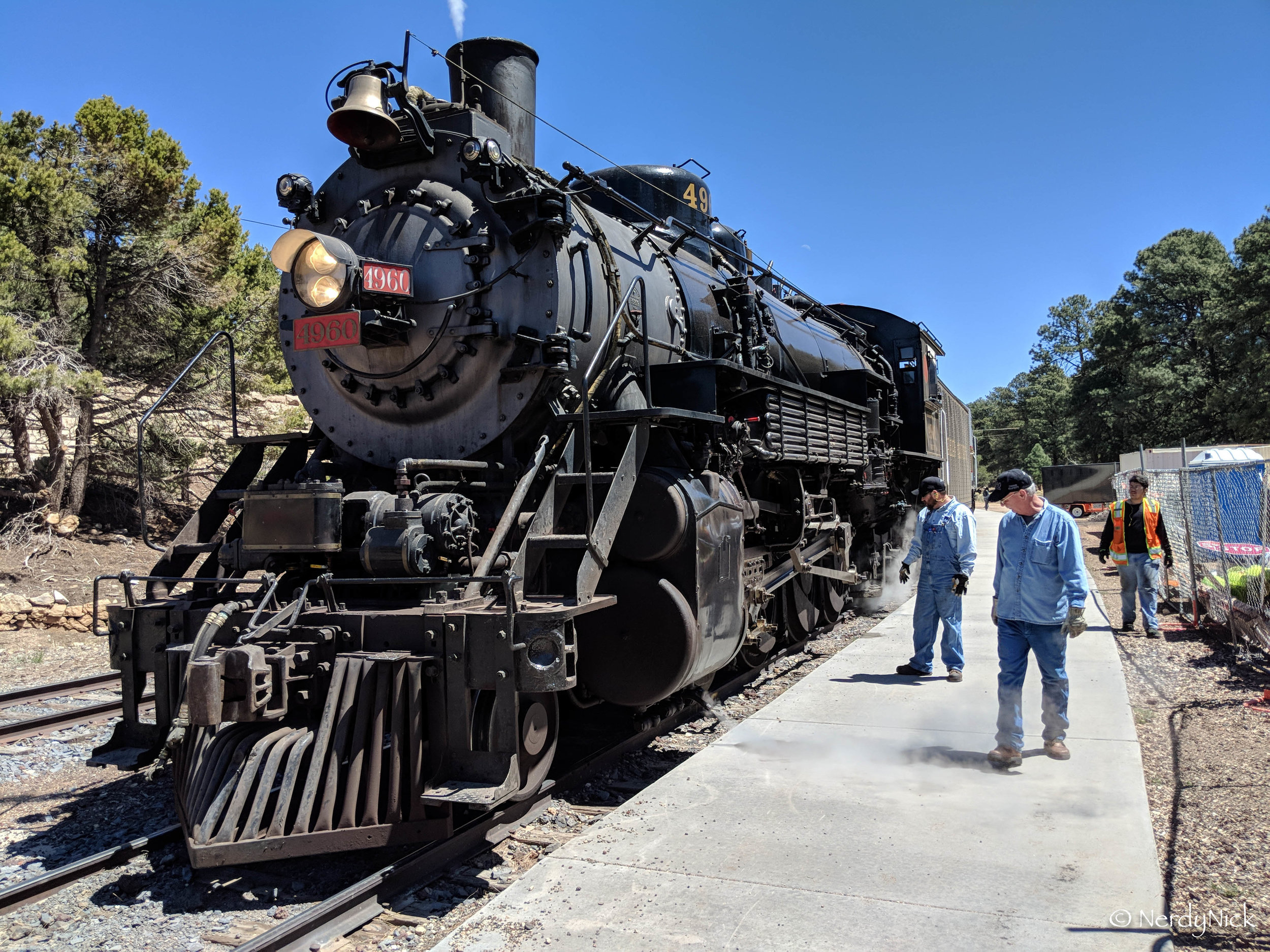 The good old steam locomotive that hauled us here