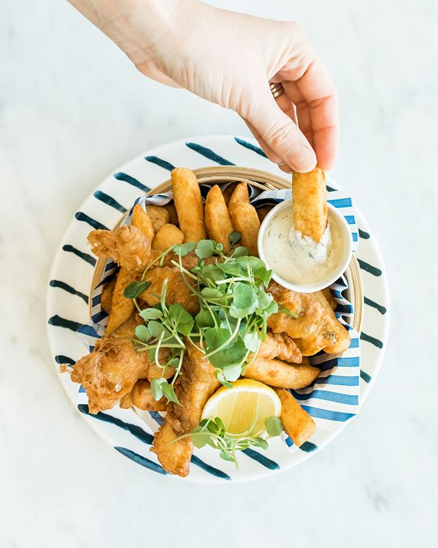 Flathead and chips, simple and delicious! ⁠ #thebothousegroup #barrenjoeyhouse #palmbeach #restaurant #guesthouse