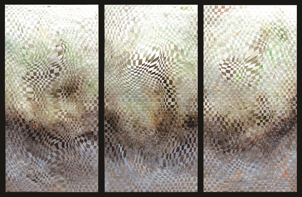 suzanne donazetti  Studio Location # 8  painted woven copper