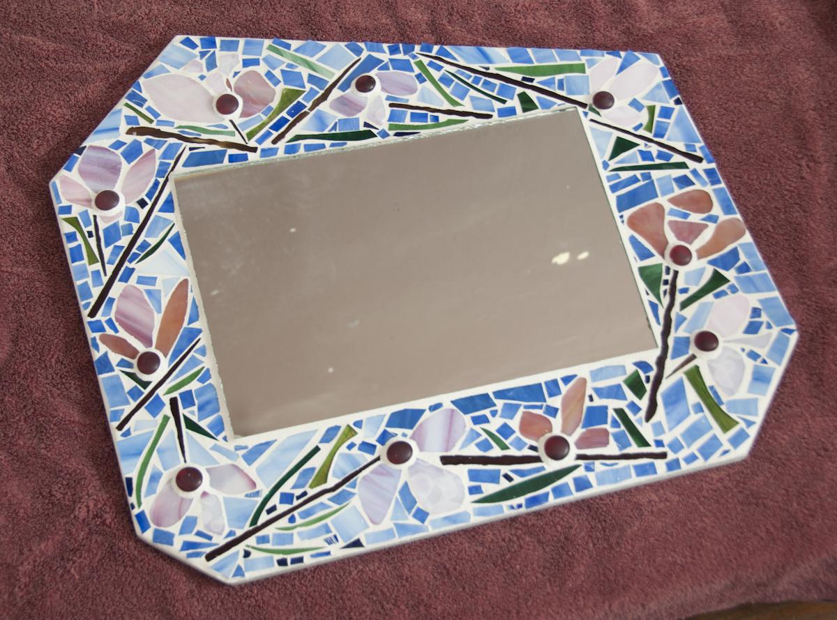 patricia payne  Studio Location: #1 / Lutz Bldg.  mosaic, glass, embellished journals