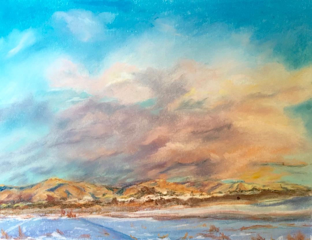 bonnie soley  Studio Location #9  pastel, acrylic, watercolor, oil