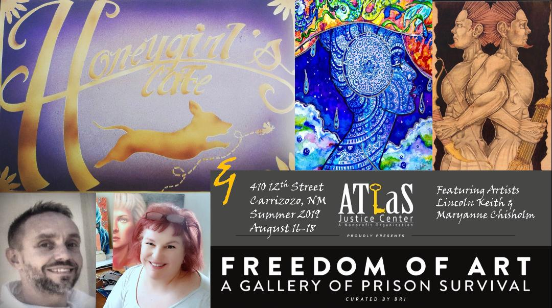 kirstin eidenbach  Studio Location #2a / Honey Girls Cafe  curator of prison art