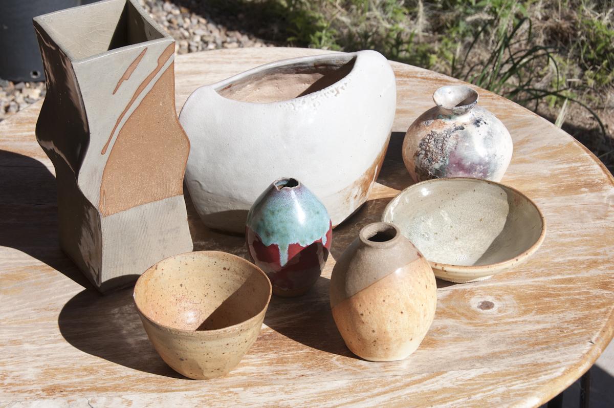 liz nowotny  Studio Location # 8  ceramics, watercolor, acylic