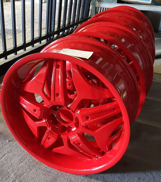 Red Powder Coated Rims