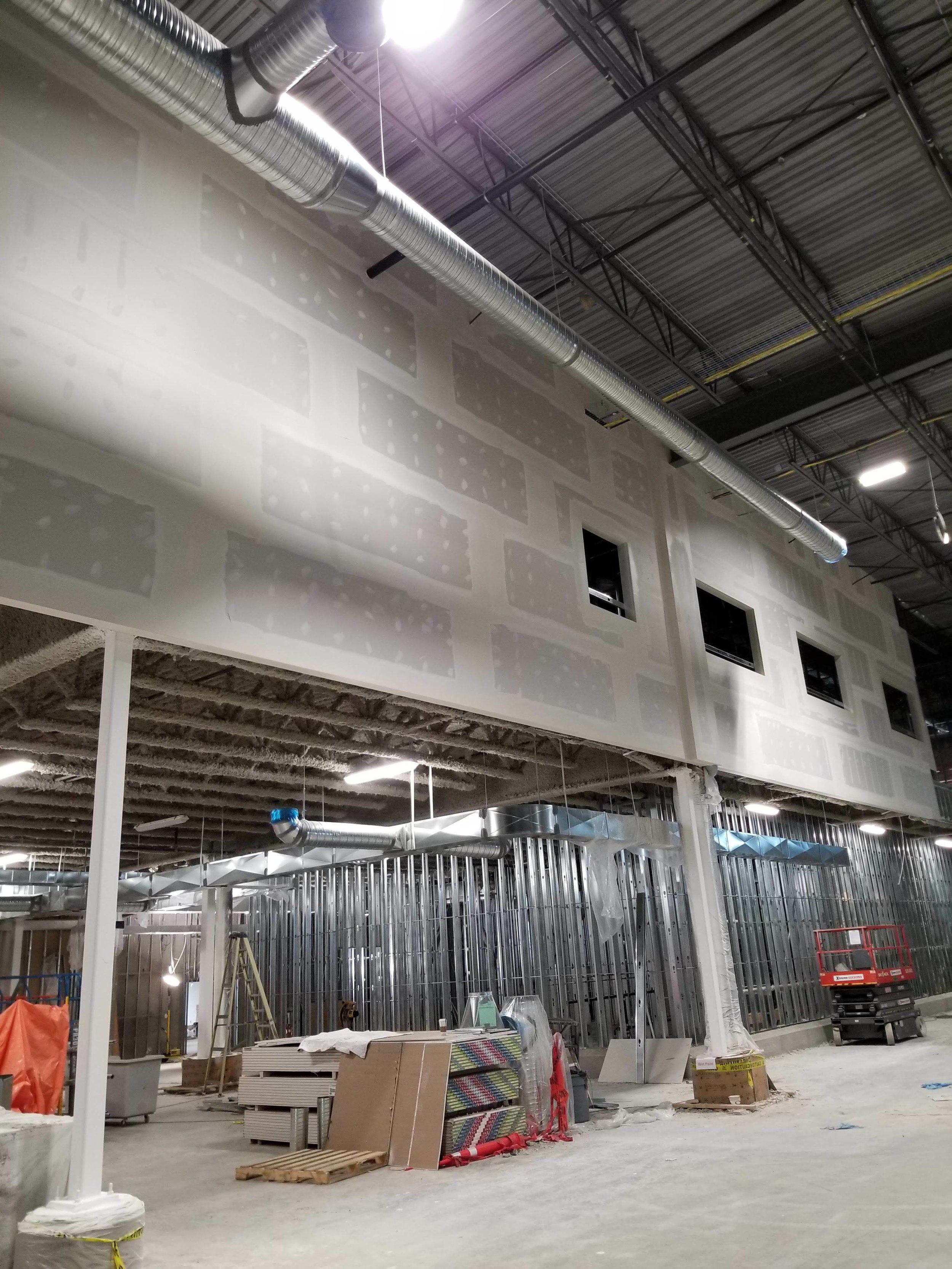 BC LDB Warehouse, Ladner, Magil Construction, MacLean Bros. Drywall