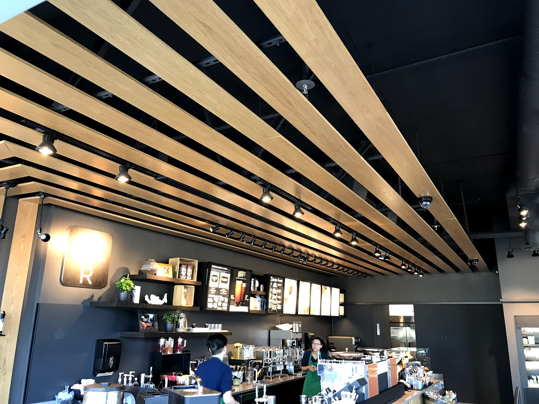 AFTER renovations at Starbucks, Bayview St
