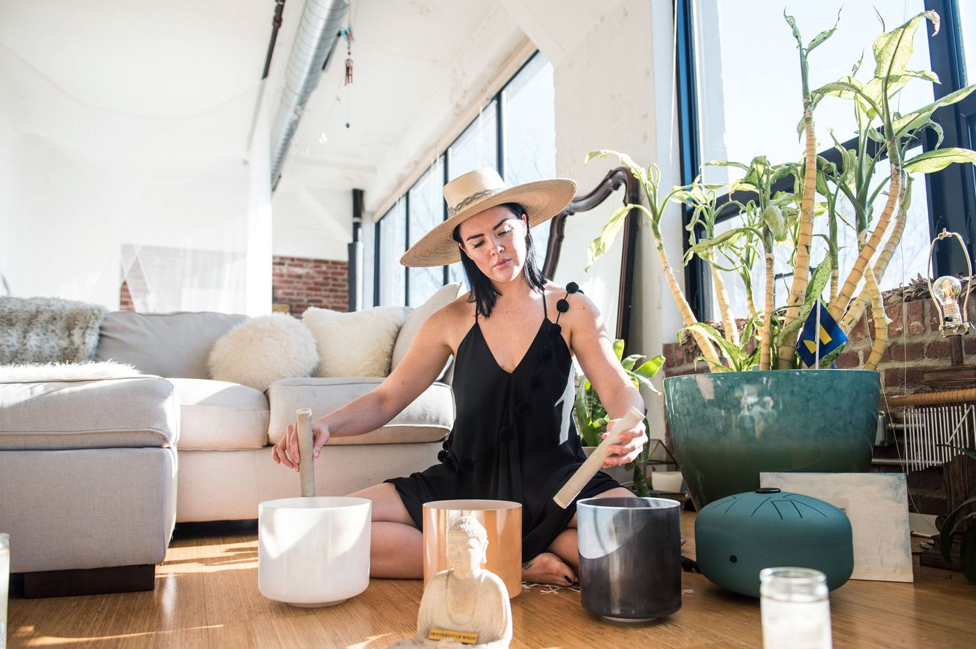 "Featured in The Philadelphia Inquirer - ""While a relatively new trend in the U.S., sound meditation is an ancient Eastern practice. Research studies have linked it to decreased stress and blood pressure, and improvements in mood."""