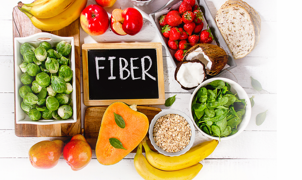 Fiber - target 20-25 grams dailySoluble fiber, which dissolves in water, can help lower glucose levels as well as help lower blood cholesterol. Foods with soluble fiber include oatmeal, nuts, beans, lentils, apples and blueberriesInsoluble fiber, which does not dissolve in water, can help food move through your digestive system, promoting regularity and helping prevent constipation. Foods with insoluble fibers include wheat, whole wheat bread, whole grain couscous, brown rice, legumes, carrots, cucumbers and tomatoes.feeds good bacteriaSlows absorption of carbs