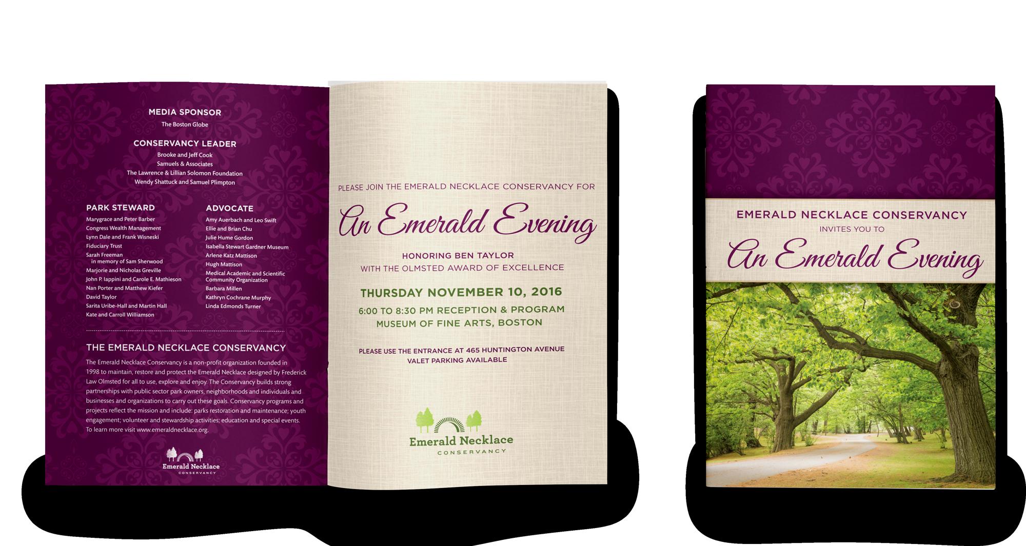 Copy of Gala invite for a parks advocacy organization