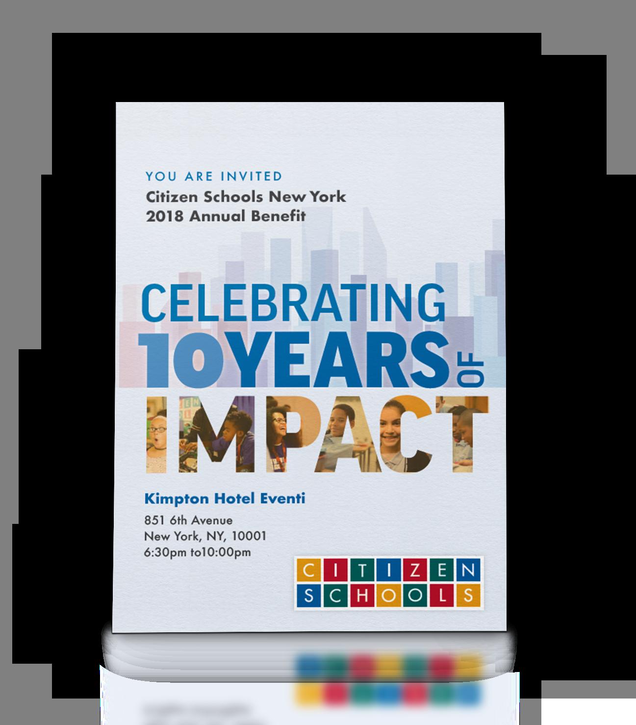 Copy of Event invite for an education non-profit