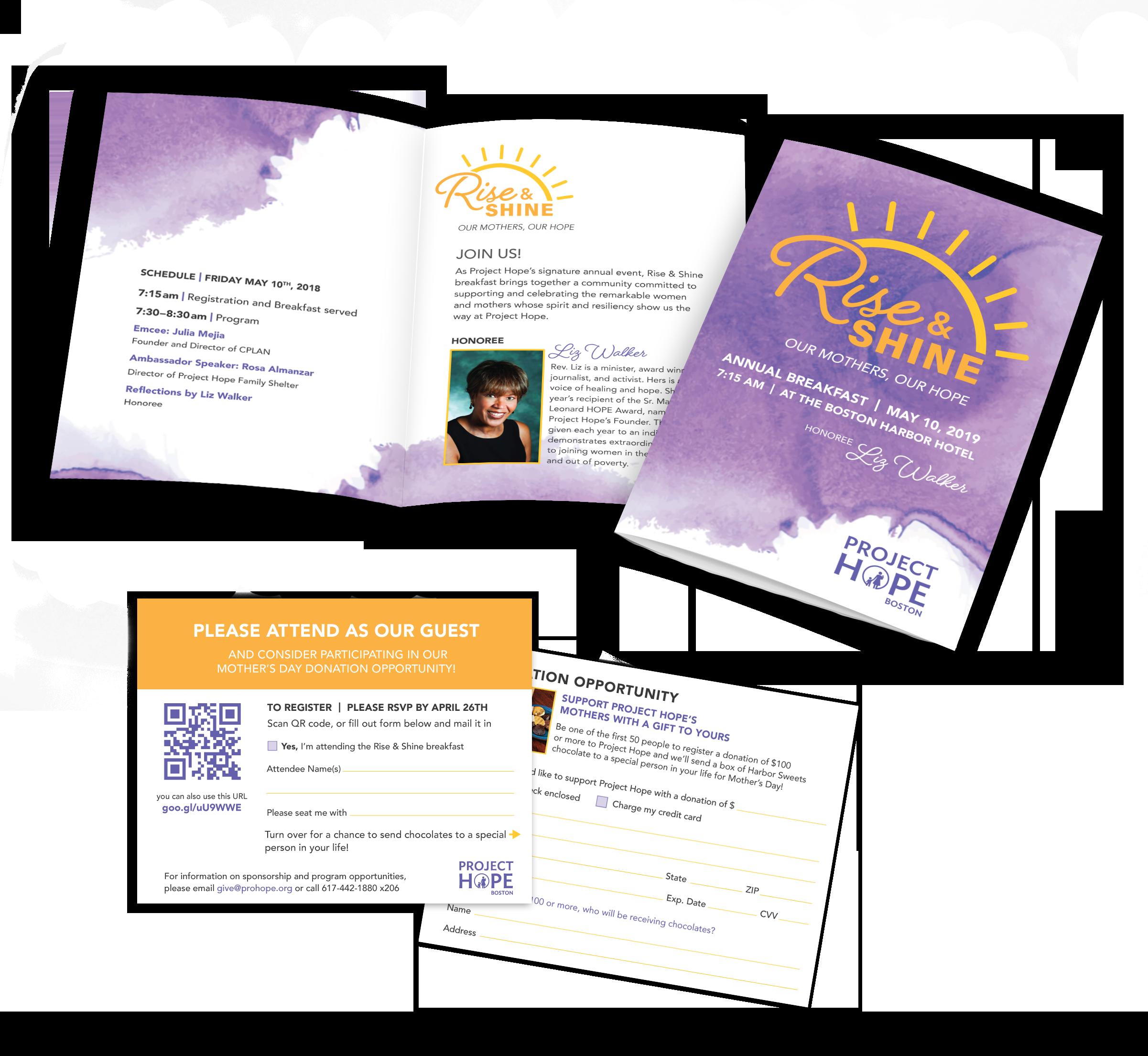 Rise & Shine Invitation and Response Card