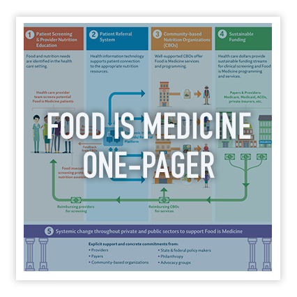 Food is medicine - One-page visual summary of report findings