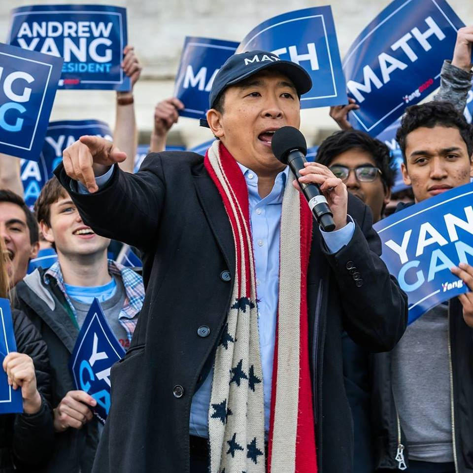 Image: Andrew Yang for President 2020 Facebook