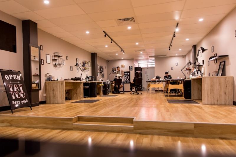 Polyfloor vinyl flooring at Mr Ink Tattoo Lounge