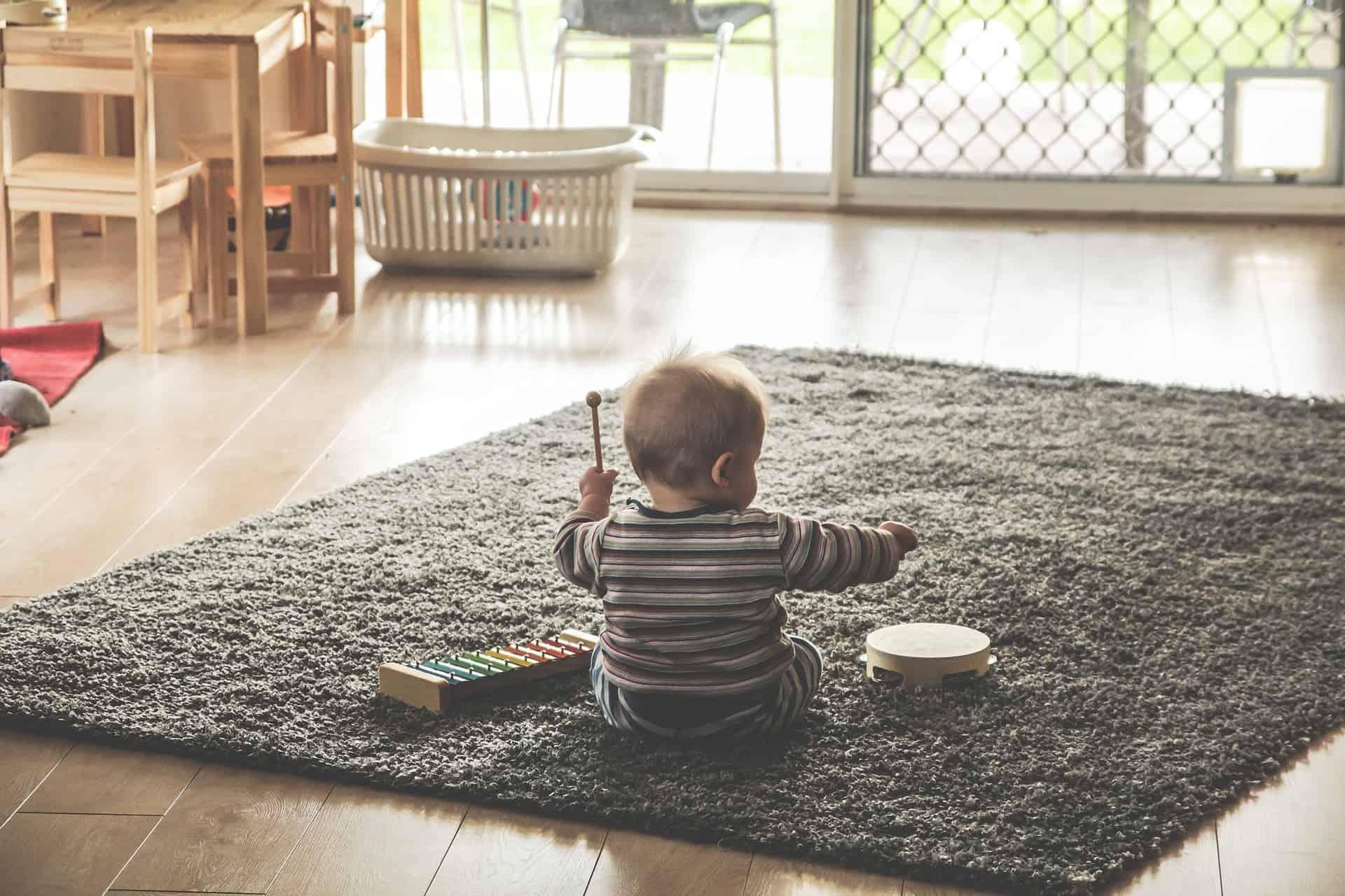 They won't stay confined to the rug forever… can your floors withstand a moving toddler?
