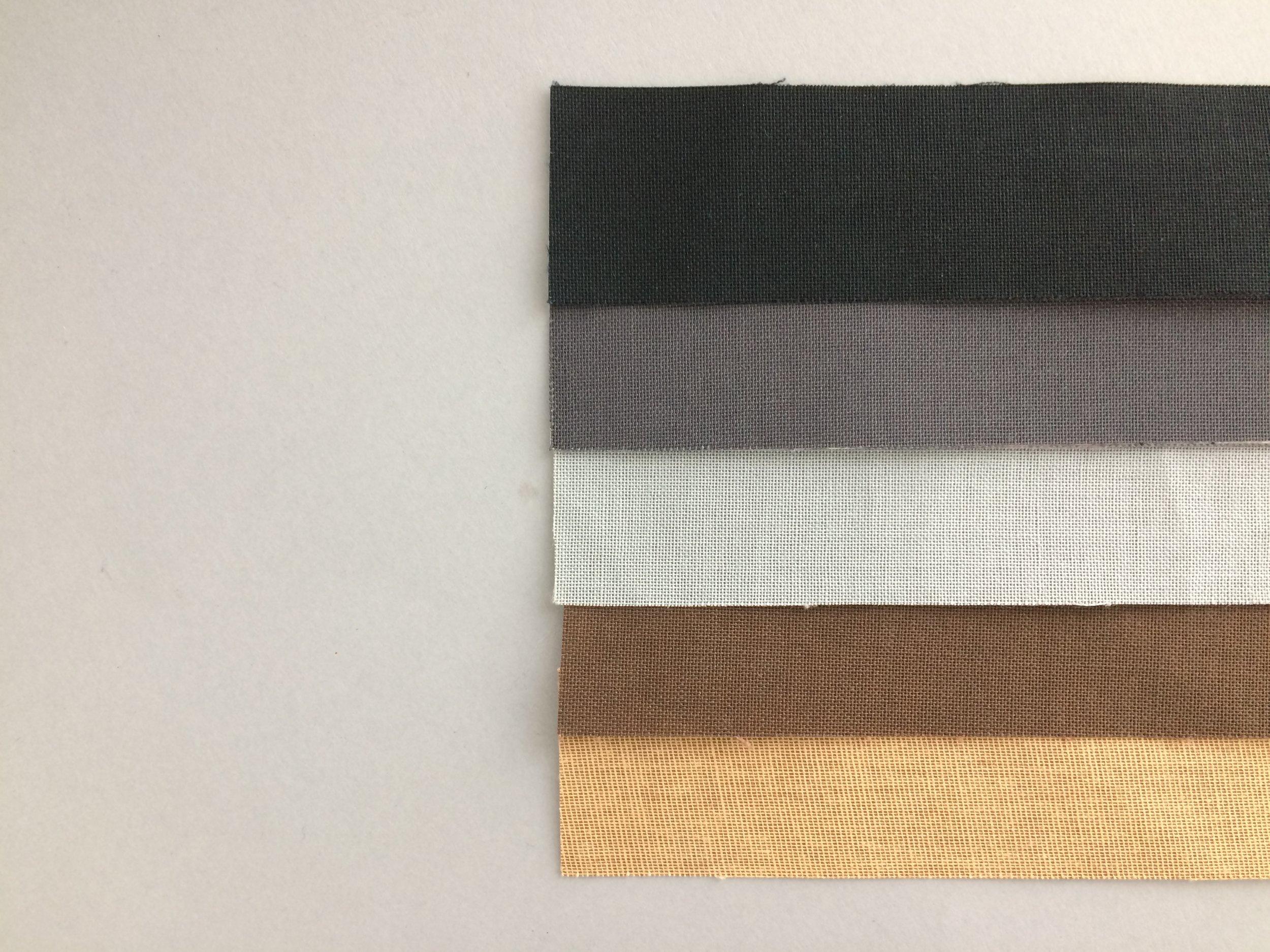 Colores crudo para lomos de tela.