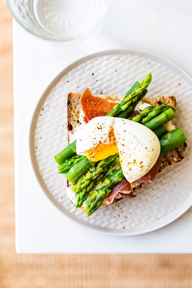 Sourdough Toasts with Asparagus & Six-Minute Eggs