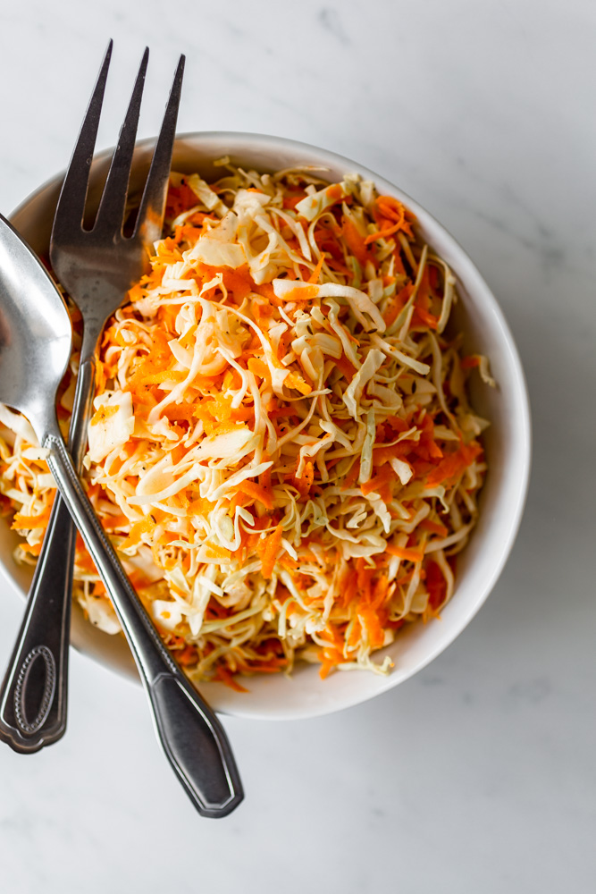 Carrot & Cabbage Slaw with Cumin Dressing