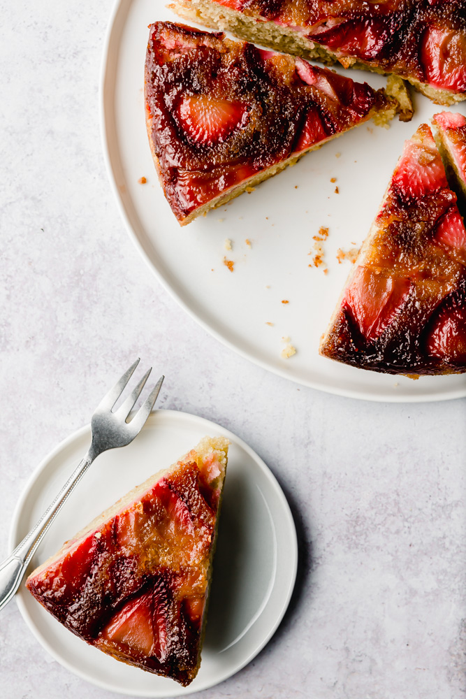 strawberry olive oil cake