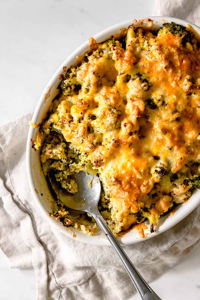 Healthy-ish Chicken & Broccoli Hotdish
